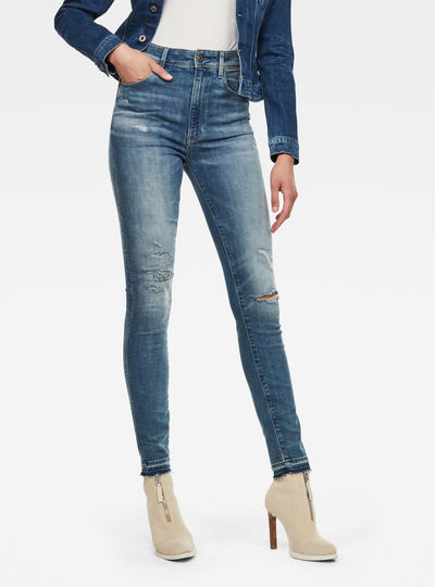 Kafey Ultra High Skinny Ripped edge Ankle Jeans