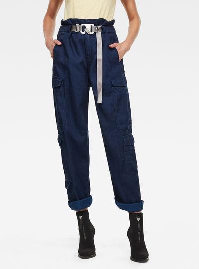 Pantalon Paperbag Wide Leg