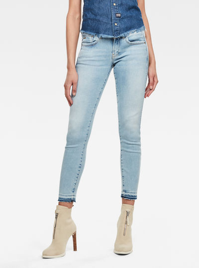 Lynn Mid Skinny Ripped Edge Ankle Jeans