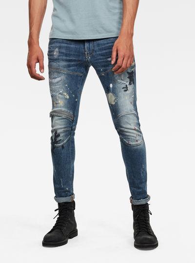 5620 3D Zip Knee Skinny