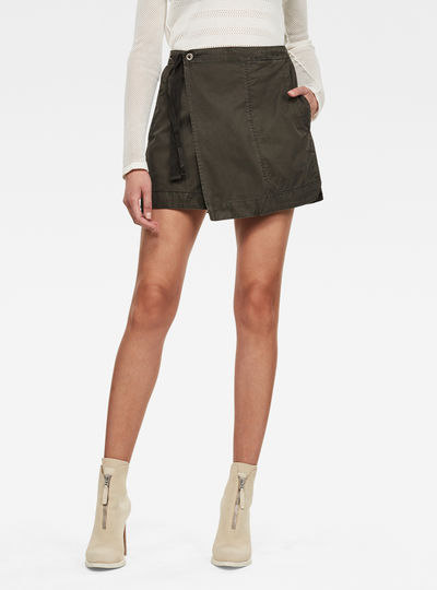 Utility Wrap Mini Skirt