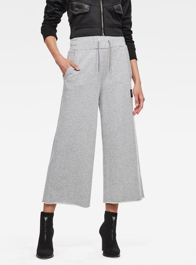 High Waist Culotte Sweatpants
