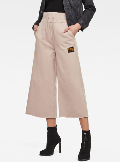 High Waist Culotte Sweatpants