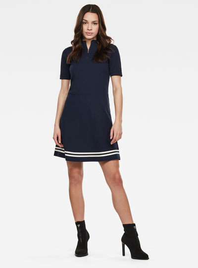 Zip Polo Dress