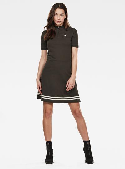 Zip Polo Dress