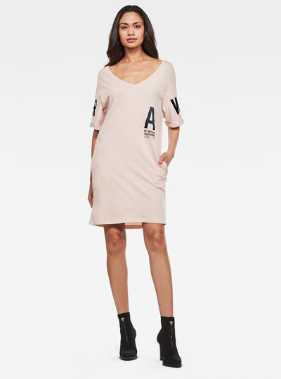 Graphic Joosa V-Neck Dress