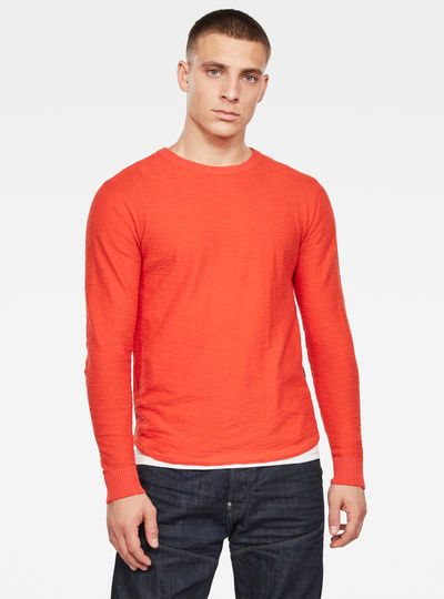 R Straight Knitted Top