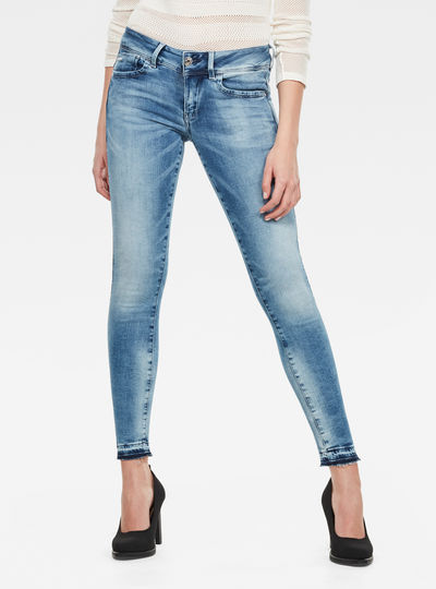 Short Lynn Mid Skinny Ripped Edge Ankle
