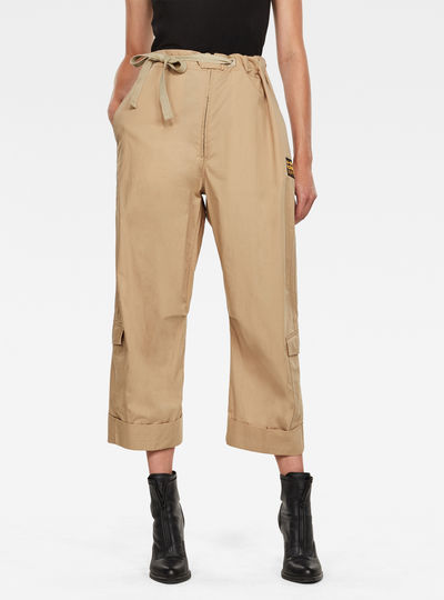 3D Utility High Loose Crop Pants