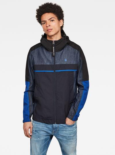 Denim Mix Hooded Jacket