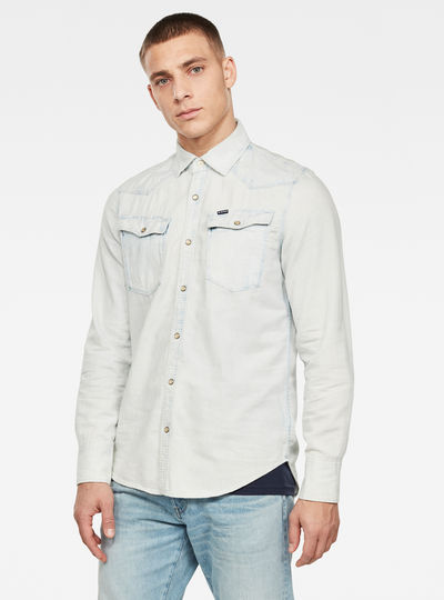 3301 Seasonal Destroy Slim Shirt