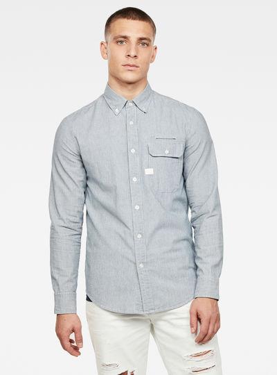 Bristum Flap Button Down Slim Hemd