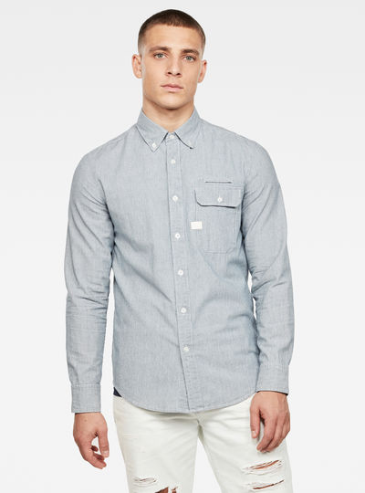 Bristum Flap Button Down Slim Shirt