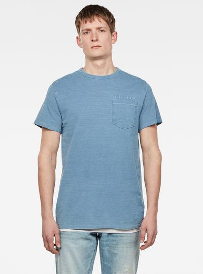 Indigo RAW Embro GR Pocket T-Shirt