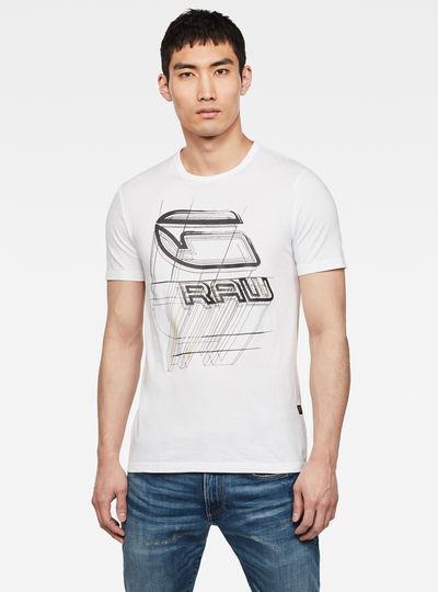 Perspective Logo GR Slim Round Neck T-Shirt