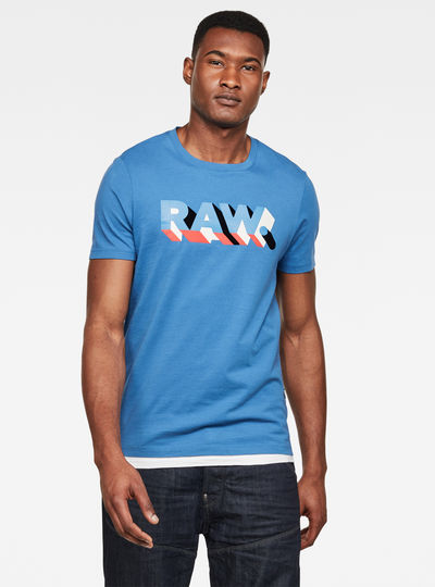 RAW. Text Slim T-Shirt