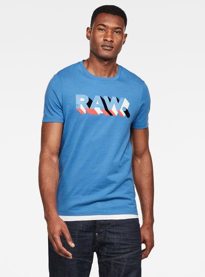 RAW. Text Slim T-Shirt
