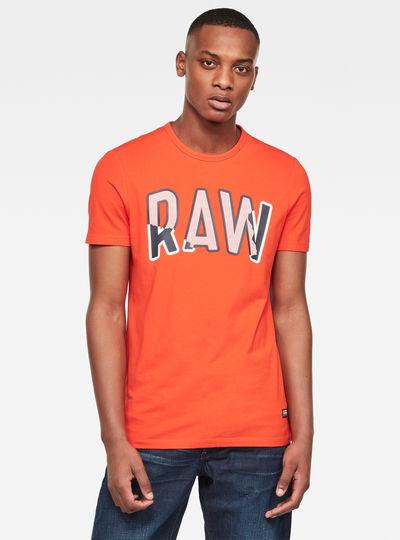 Multi Layer RAW GR Slim Round Neck T-Shirt