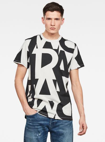 Raw Allover GR Round Neck T-Shirt