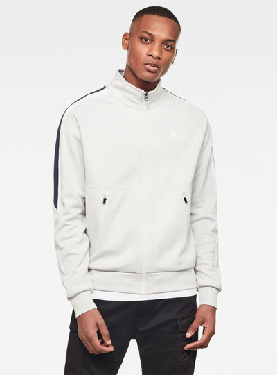 Side Stripe Track Top Sweater