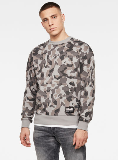 Brush Camo Round Neck Sweater