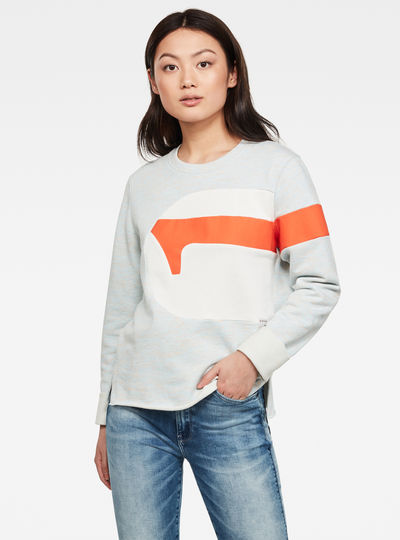 Boyfriend G-Stripe Slit Sweatshirt