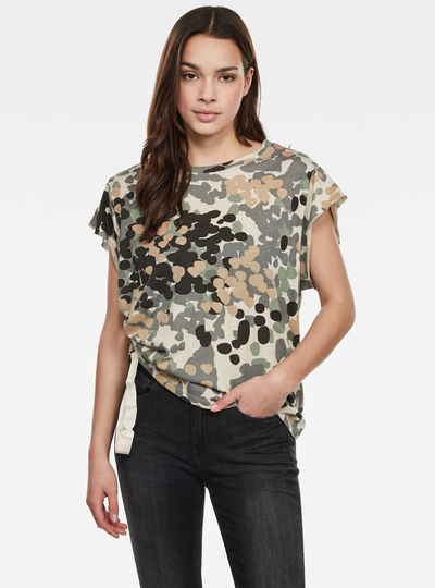 Gyre Allover Knot Round Neck Top