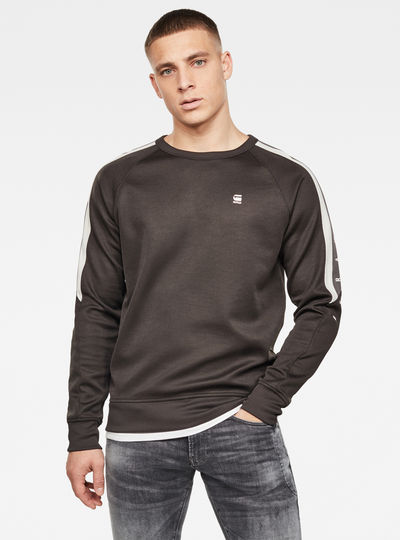 Side Stripe Crew Sweater