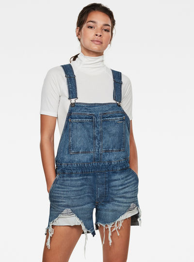 Faeroes Boyfriend Short Overall Ripped