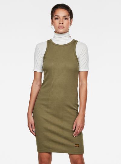 Rib Tank Dress Slim