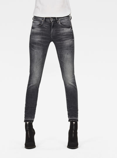 3301 Mid Skinny Ripped Edge Ankle Jeans
