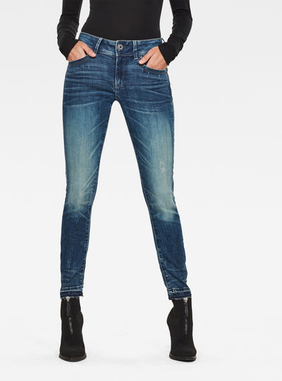 Jeans Lynn Mid Skinny Ripped Edge Ankle