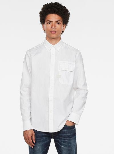 Bristum Flap Button Down Slim Shirt