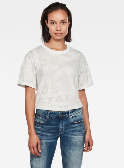 Camiseta Loose Allover Top