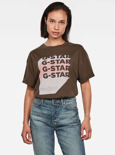 G-Star Stacked Logo Top