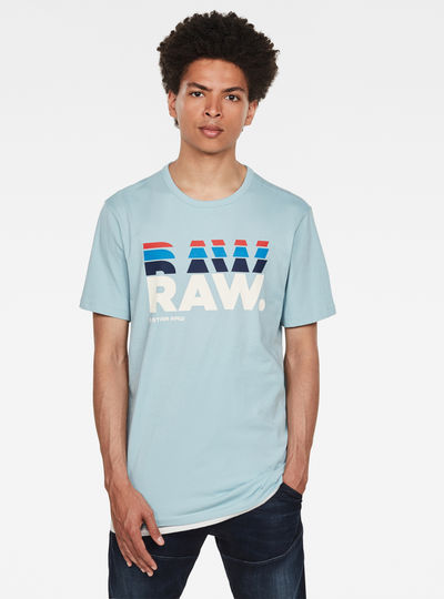 RAW. Stacked Logo T-Shirt