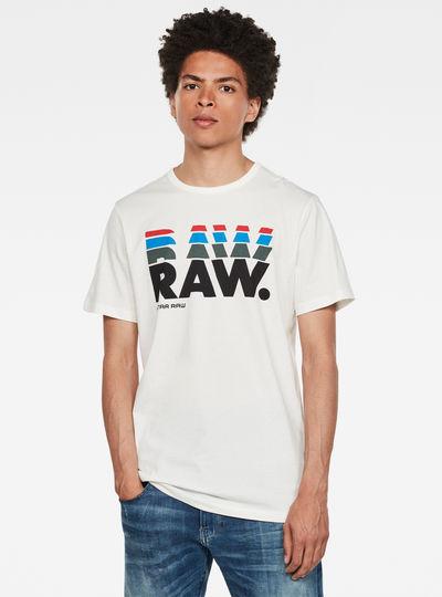 RAW. Stacked Logo T-Shirt