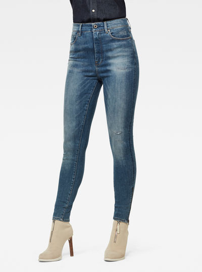 G-Star Shape High Super Skinny Ankle Jeans
