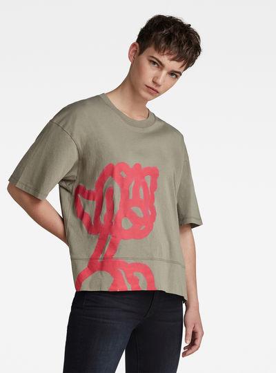 Loose Fit Big Object Print T-Shirt