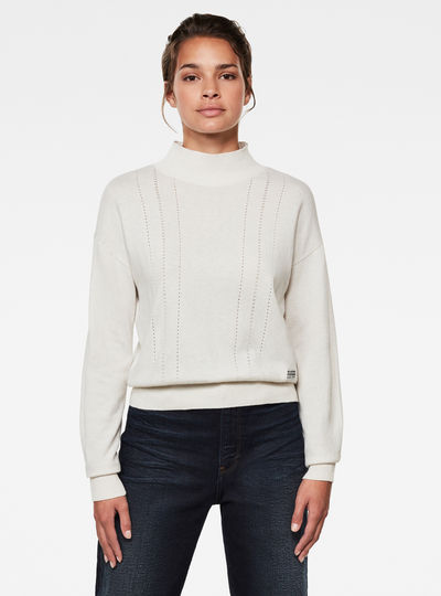 Core Mock Neck Knitted Sweater