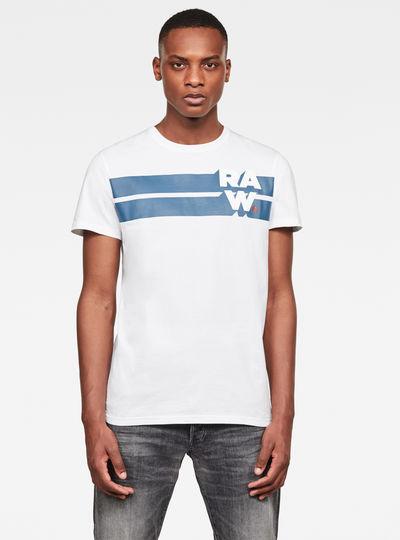Raw. Stripe Graphic T-Shirt