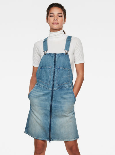 Lintell Denim Overall Dress