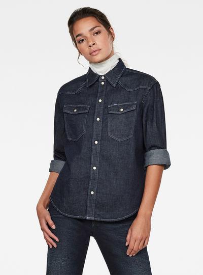 Western Denim Relaxed Shirt