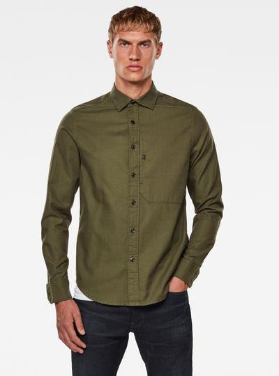 Stalt Reg Patch Pocket Overhemd