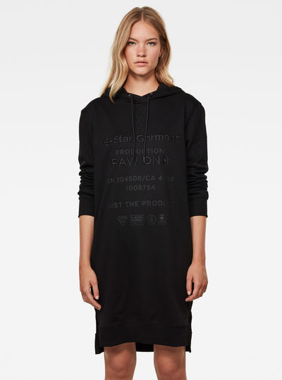 Graphic Text BF Hooded Sweat Kleid