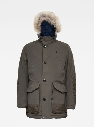 Vodan Padded Hooded Faux Fur Parka