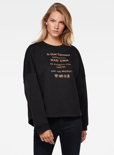 Graphic Text Relaxed Sweatshirt