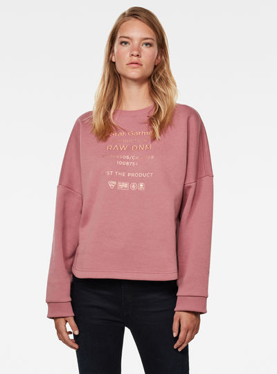 Graphic Text Relaxed Sweater