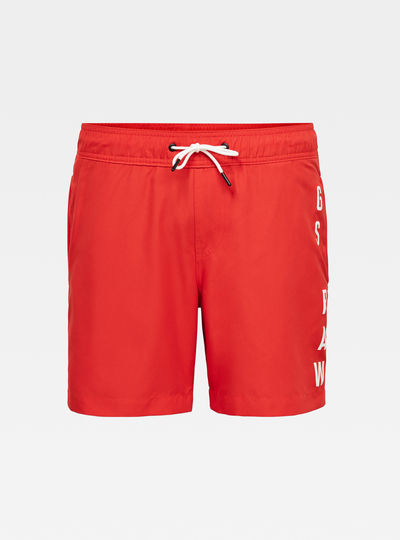 Dirik solid Artwork Swimshorts