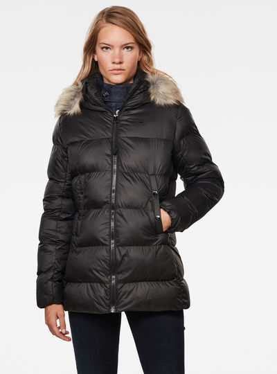 Whistler Hooded Fur Slim Coat